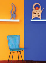 Two colour feature wall