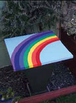 How to make a rainbow bird table