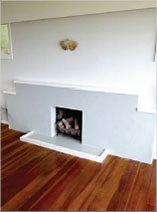 How to paint an old fireplace