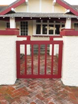 How to spruce up an old wooden front gate
