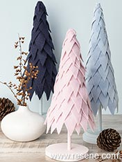 Make a felt fir tree for your Christmas table
